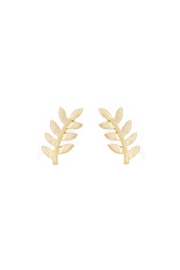 Wild Lilies Jewelry  Gold Leaf Studs - Front cropped