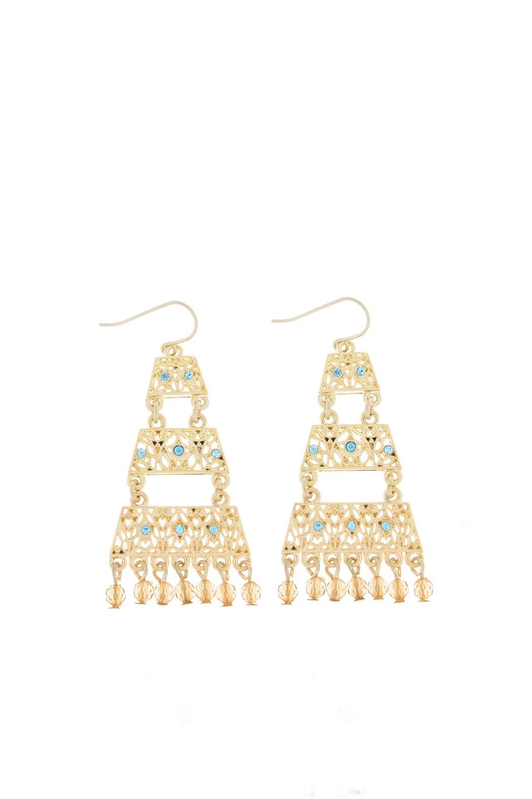 Wild Lilies Jewelry  Gold Pyramid Earrings - Main Image