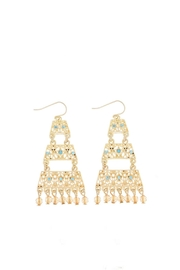 Wild Lilies Jewelry  Gold Pyramid Earrings - Front cropped