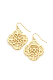 Wild Lilies Jewelry  Gold Quatrefoil Earrings - Product Mini Image