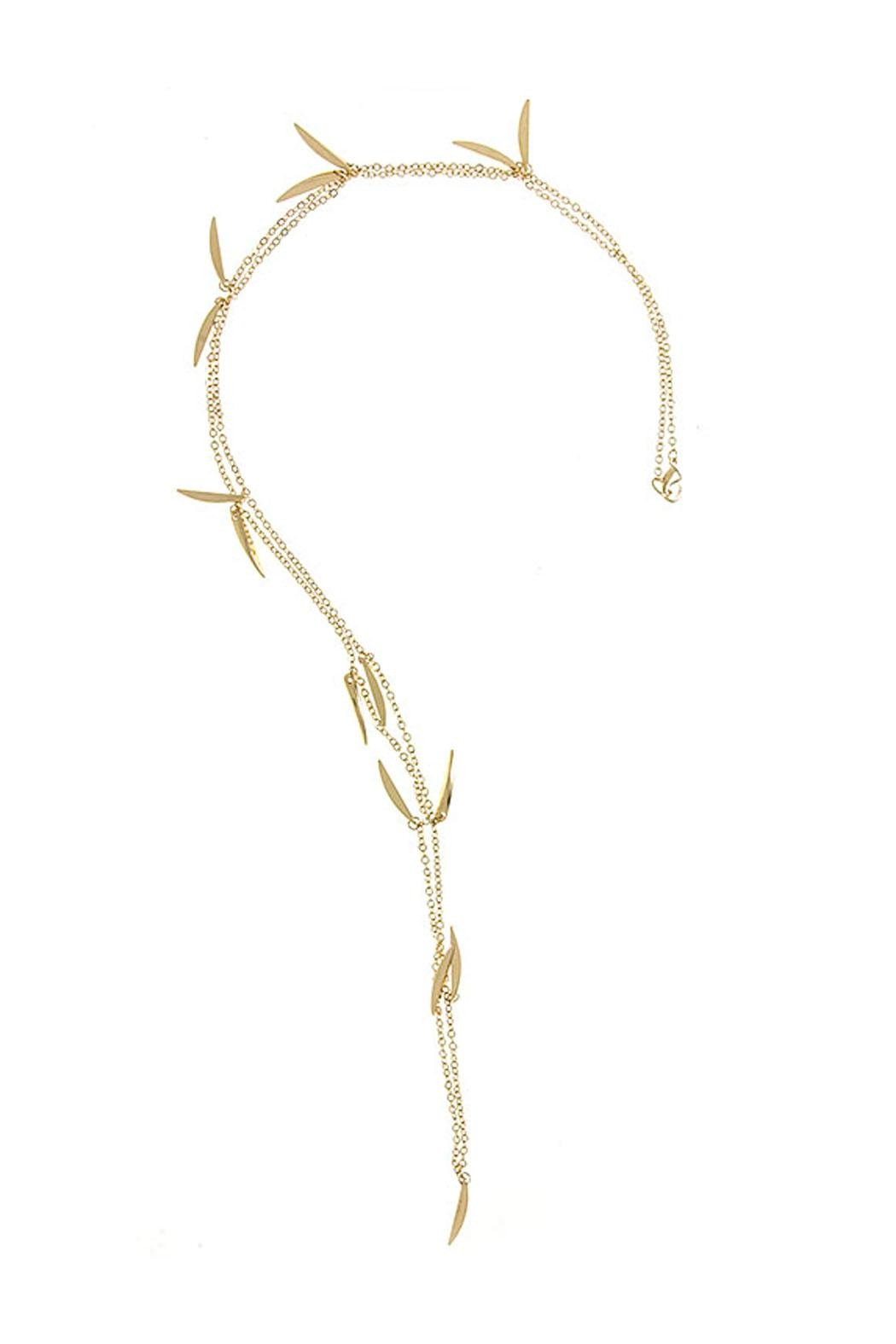 Wild Lilies Jewelry  Gold Spike Necklace - Front Full Image