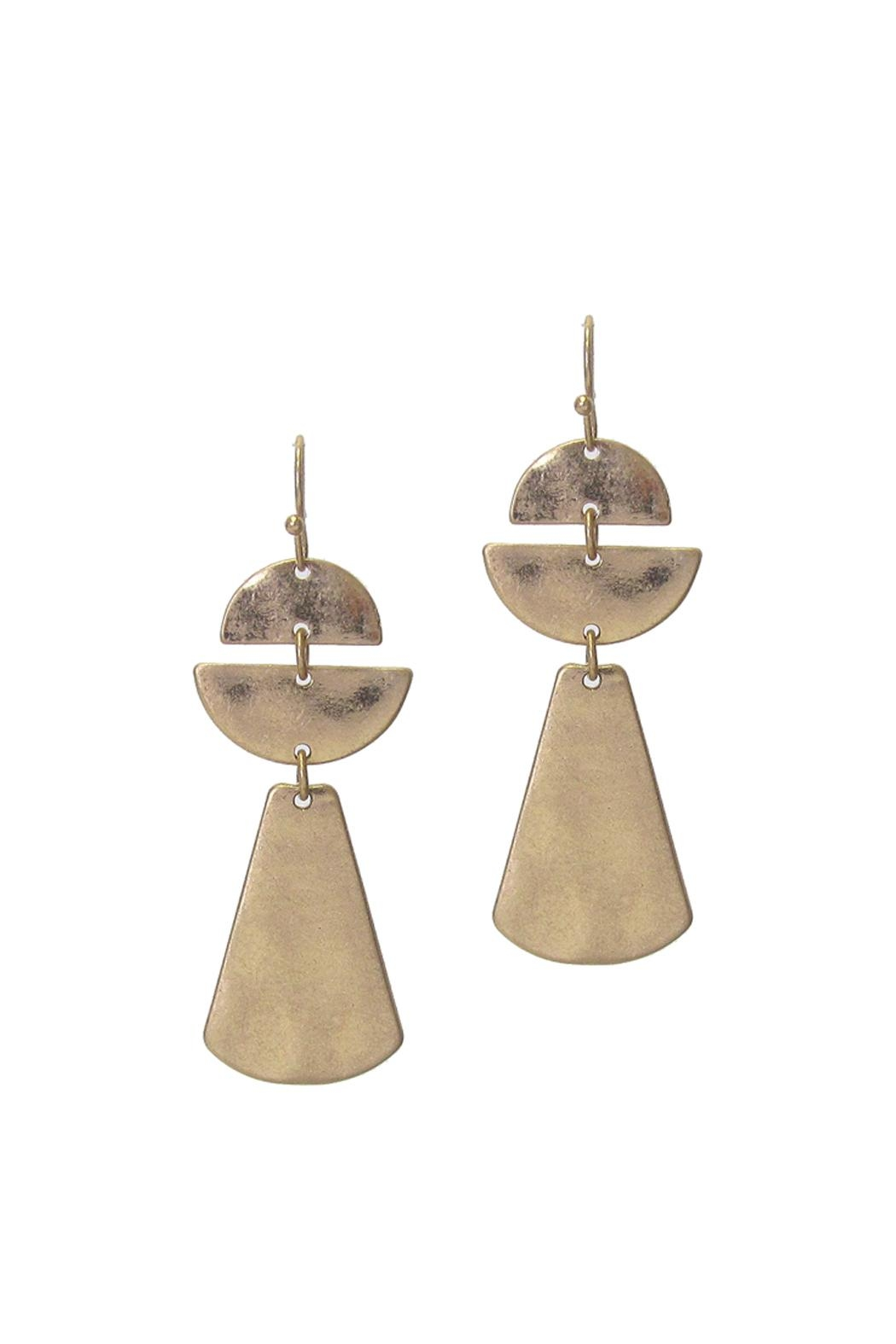 Wild Lilies Jewelry  Gold Statement Earrings - Front Full Image