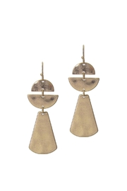 Wild Lilies Jewelry  Gold Statement Earrings - Front full body