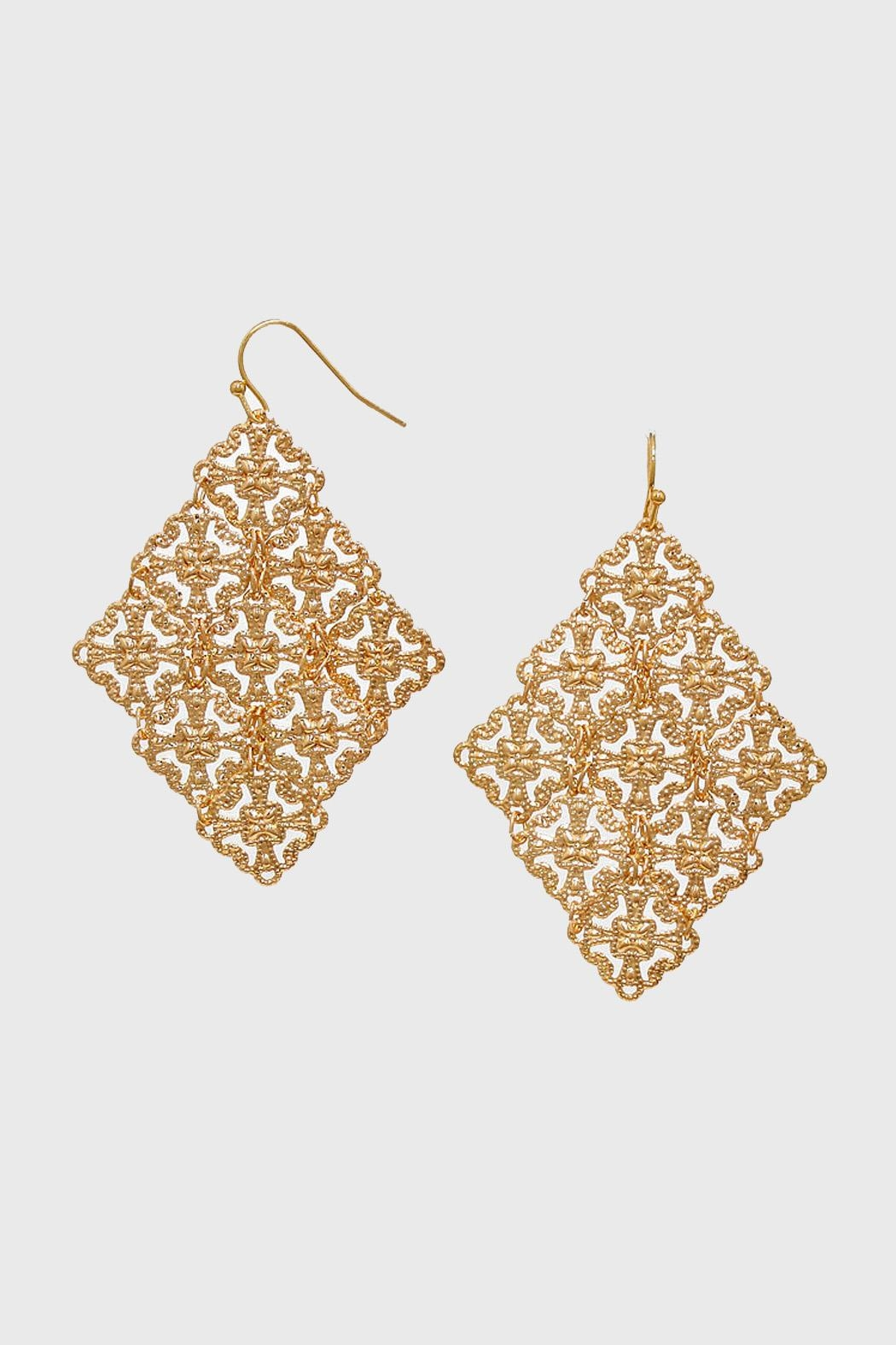 Wild Lilies Jewelry  Gold Statement Earrings - Main Image