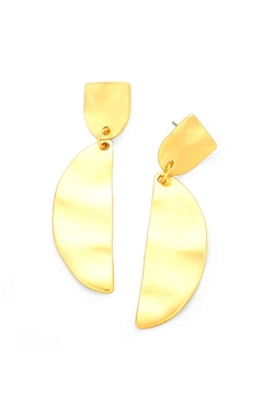 Wild Lilies Jewelry  Gold Statement Earrings - Product List Image