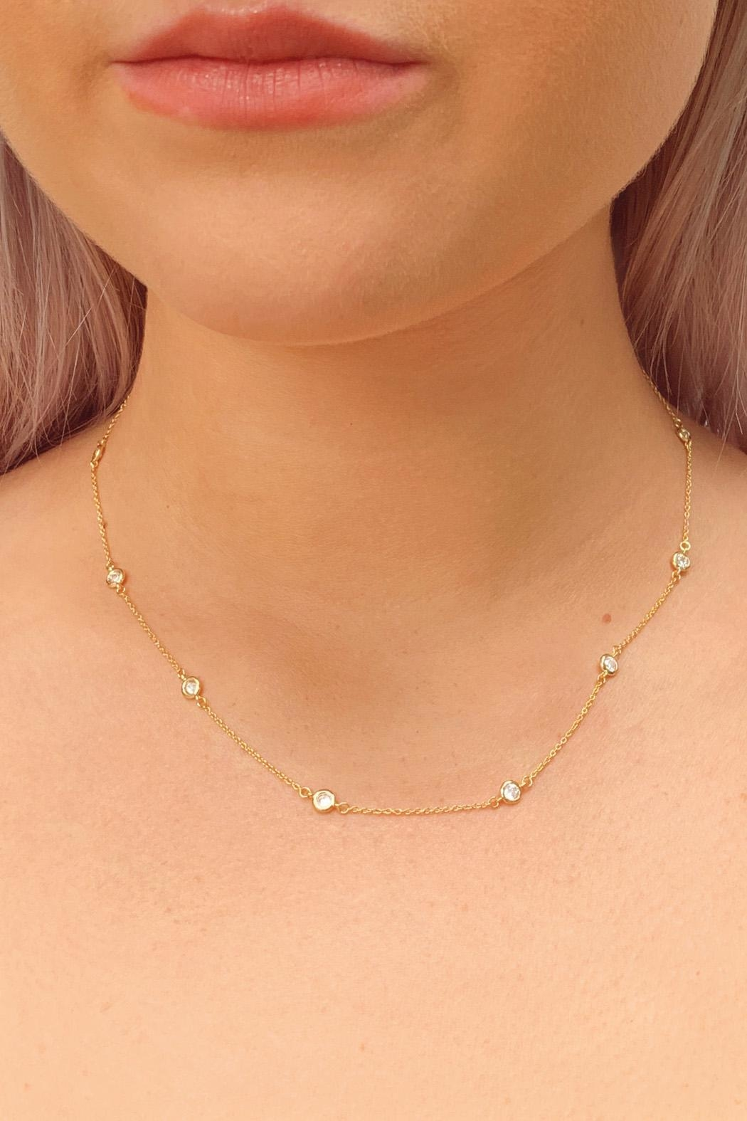 Wild Lilies Jewelry  Gold Station Necklace - Main Image