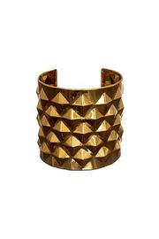 Wild Lilies Jewelry  Gold Studded Cuff - Front cropped