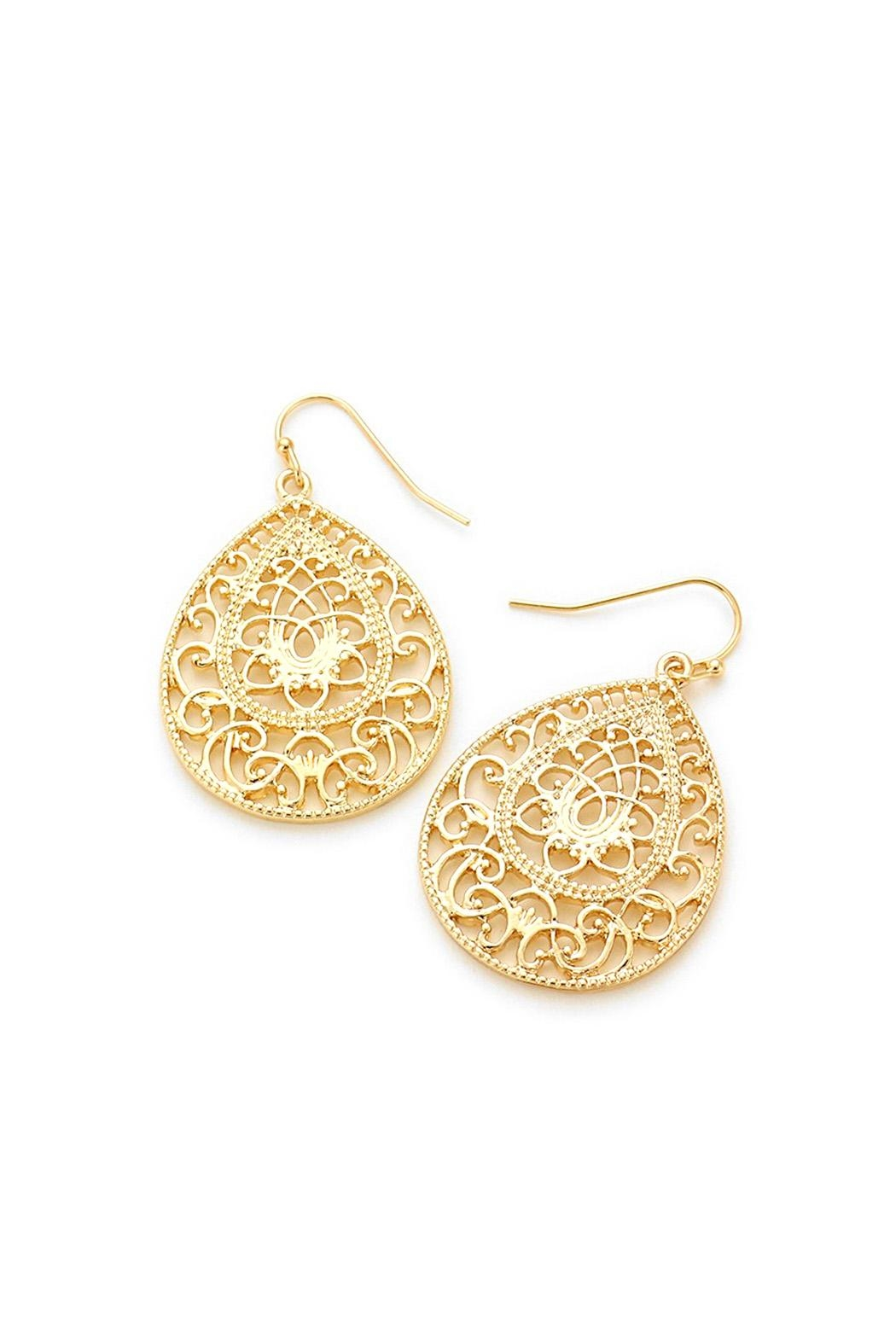 Wild Lilies Jewelry  Gold Teardrop Earrings - Main Image