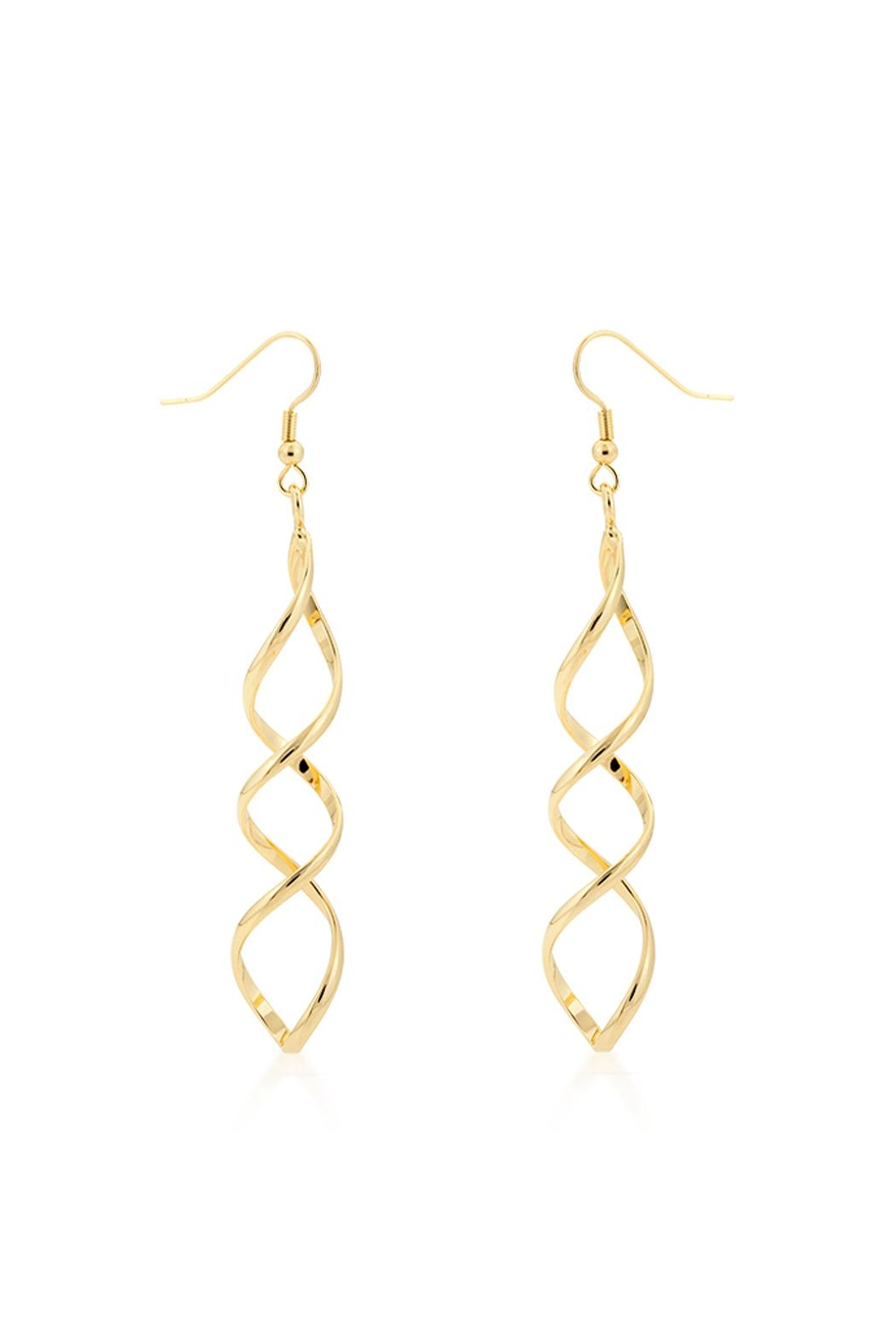 Wild Lilies Jewelry  Golden Twist Earrings - Main Image