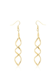 Wild Lilies Jewelry  Golden Twist Earrings - Front cropped