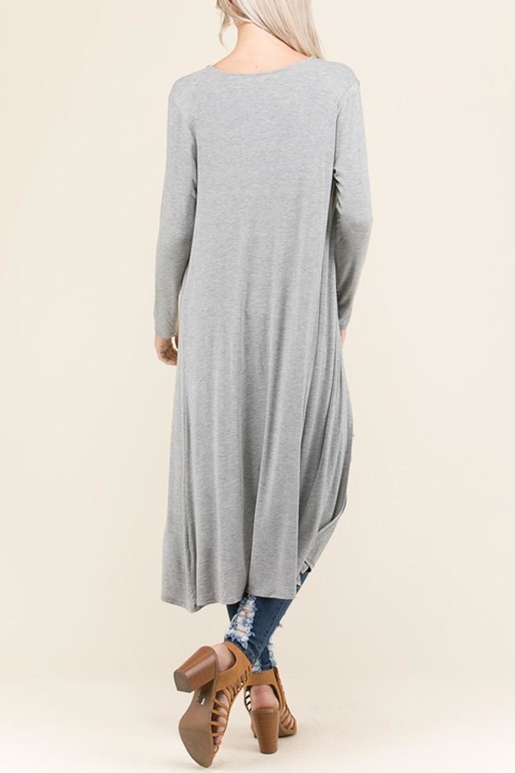 Wild Lilies Jewelry  Gray Long Cardigan - Front Full Image