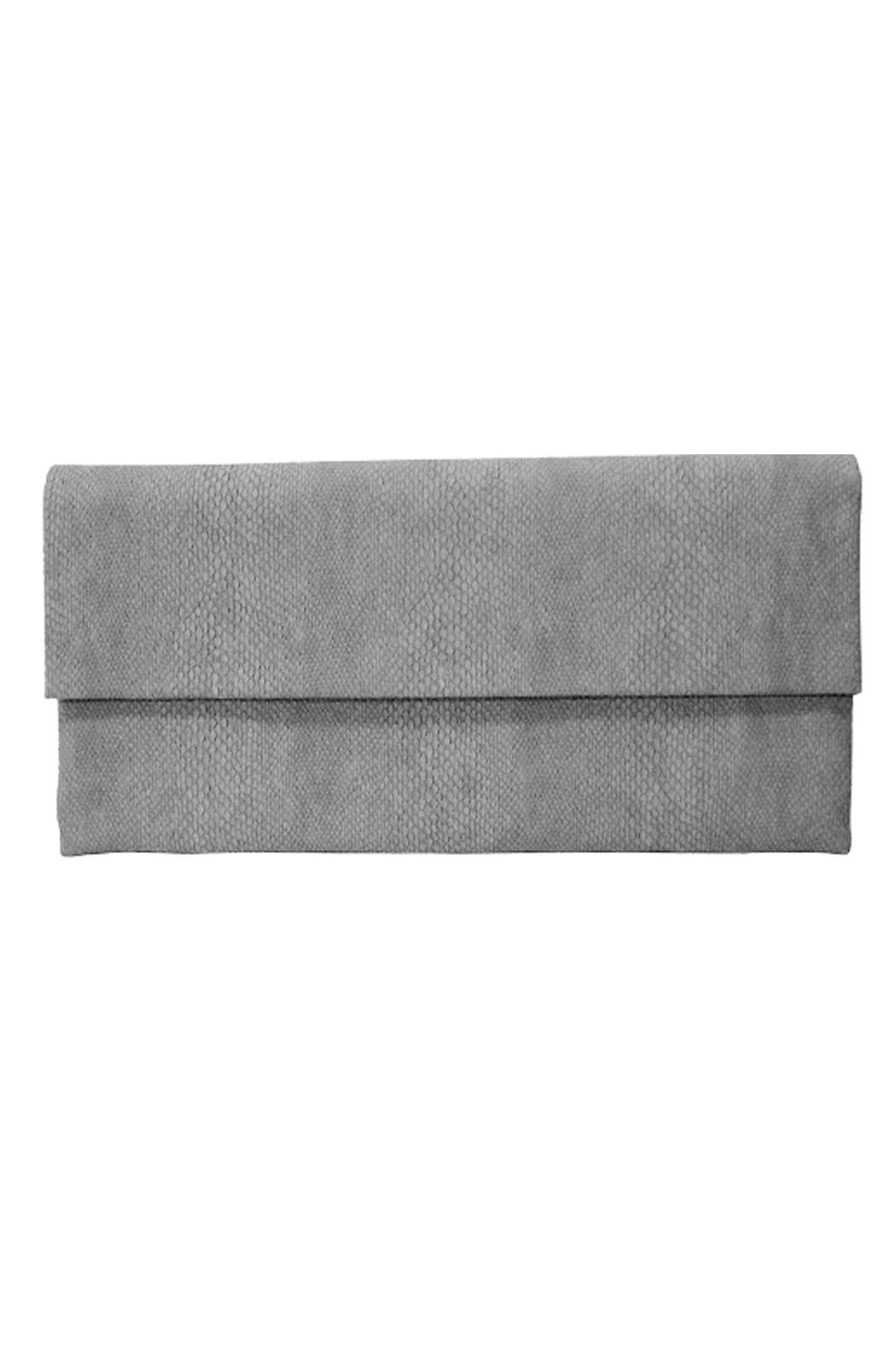 Wild Lilies Jewelry  Gray Snakeskin Clutch - Front Cropped Image