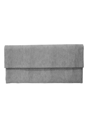 Wild Lilies Jewelry  Gray Snakeskin Clutch - Front cropped