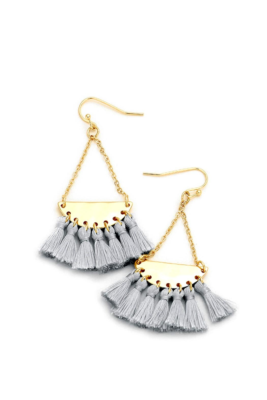 Wild Lilies Jewelry  Gray Tassel Earrings - Front Cropped Image