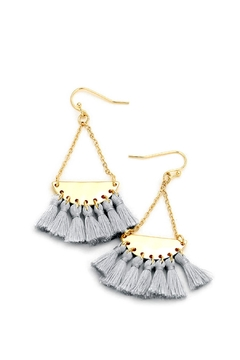 Shoptiques Product: Gray Tassel Earrings