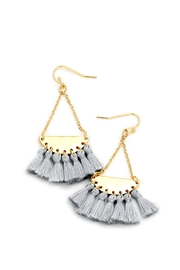 Wild Lilies Jewelry  Gray Tassel Earrings - Front cropped