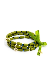Wild Lilies Jewelry  Green Beaded Bracelet - Front cropped