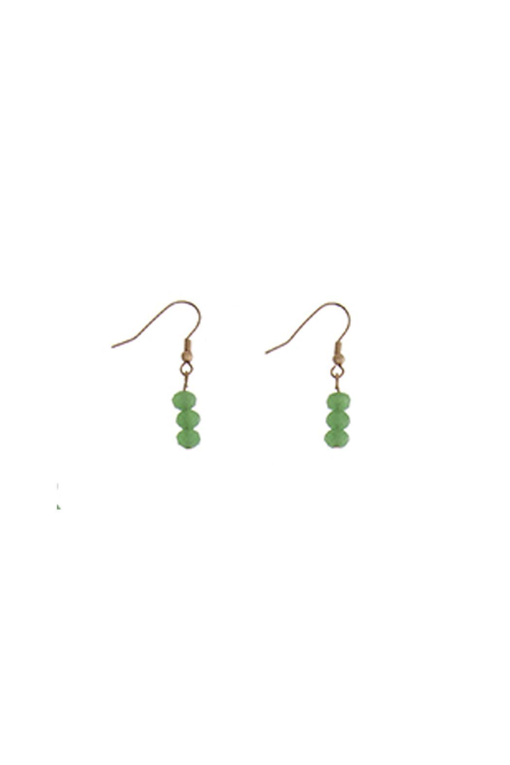 Wild Lilies Jewelry  Green Beaded Earrings - Main Image