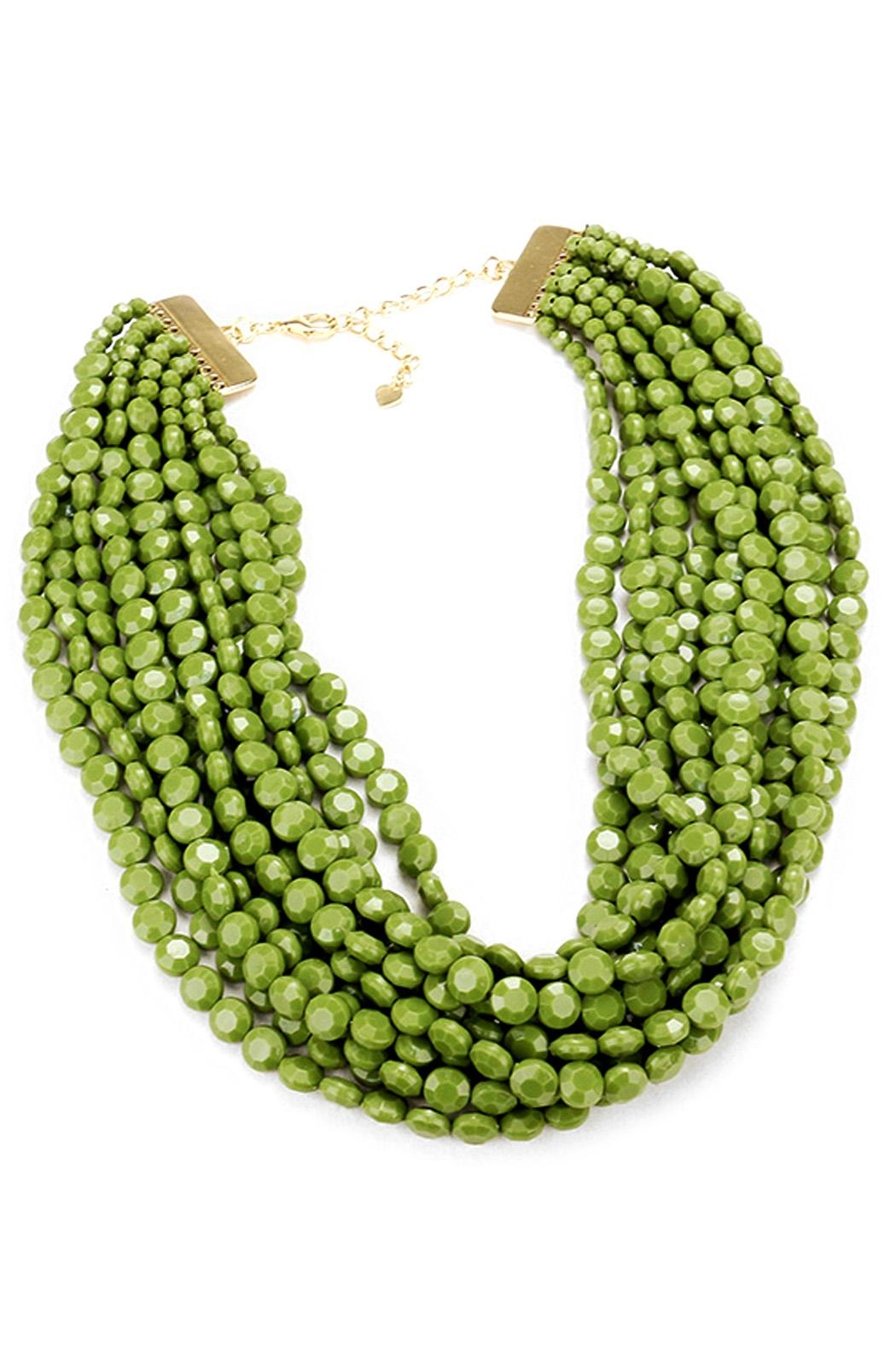 Wild Lilies Jewelry  Green Beaded Necklace - Main Image