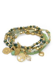 Wild Lilies Jewelry  Green Charm Bracelet - Product Mini Image
