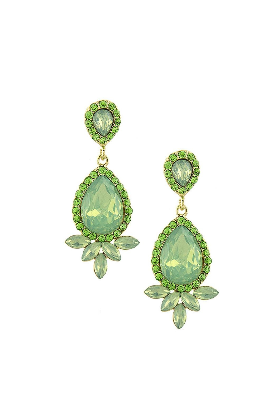 Wild Lilies Jewelry  Green Crystal Earrings - Main Image