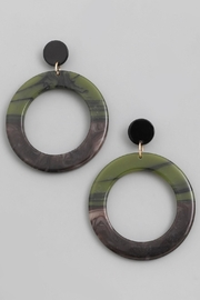 Wild Lilies Jewelry  Green Hoop Earrings - Product Mini Image