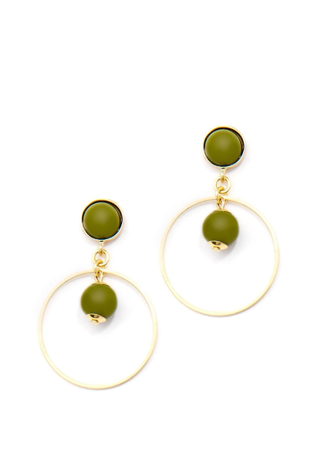 Wild Lilies Jewelry  Green Hoop Earrings - Main Image