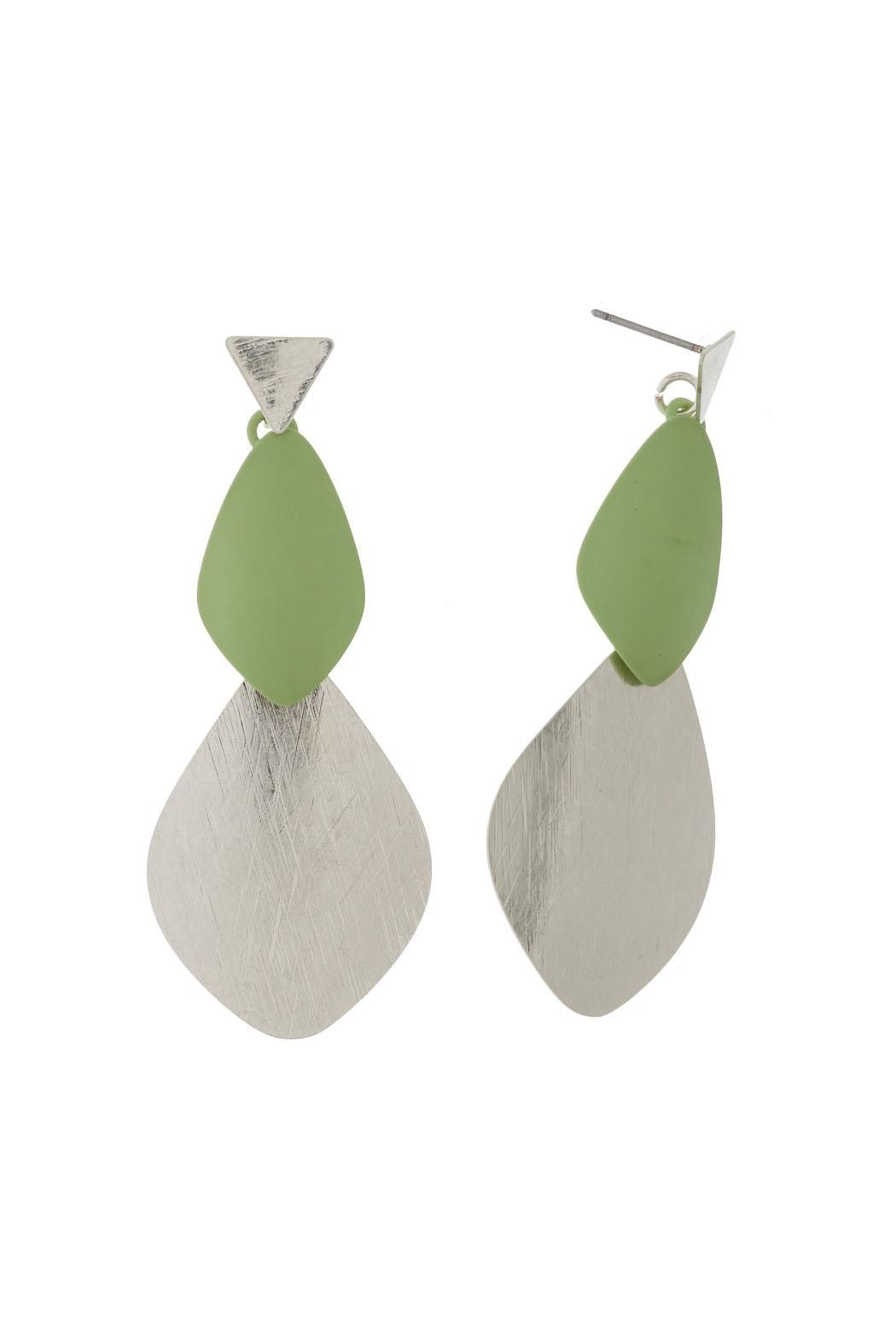 Wild Lilies Jewelry  Green Statement Earrings - Main Image