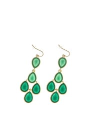 Wild Lilies Jewelry  Green Statement Earrings - Front cropped