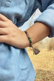 Wild Lilies Jewelry  Green Tassel Bracelet - Product Mini Image