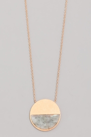 Wild Lilies Jewelry  Half Stone Necklace - Front full body