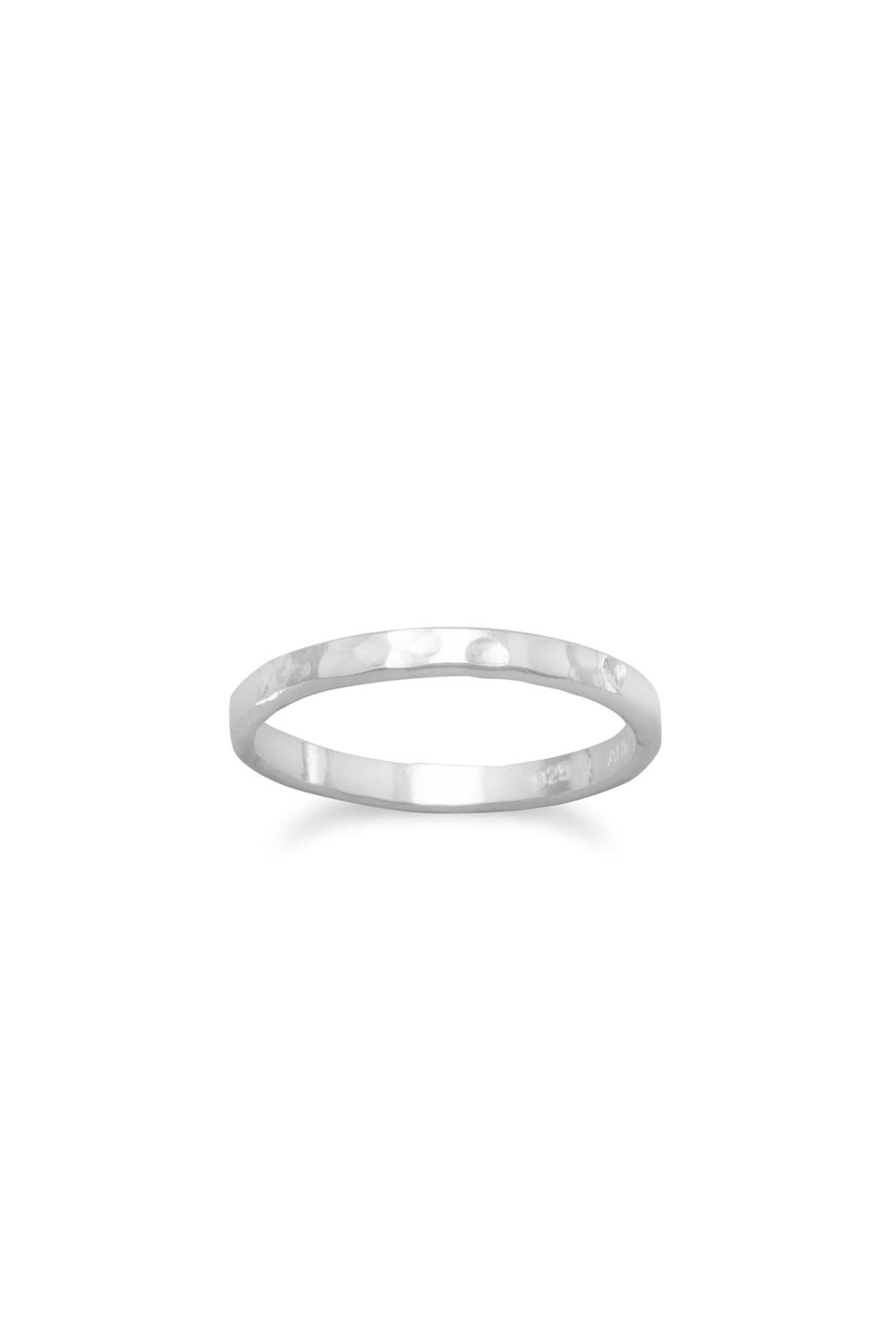 Wild Lilies Jewelry  Hammered Silver Band - Main Image