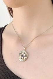 Wild Lilies Jewelry  Hamsa Pendant Necklace - Front cropped