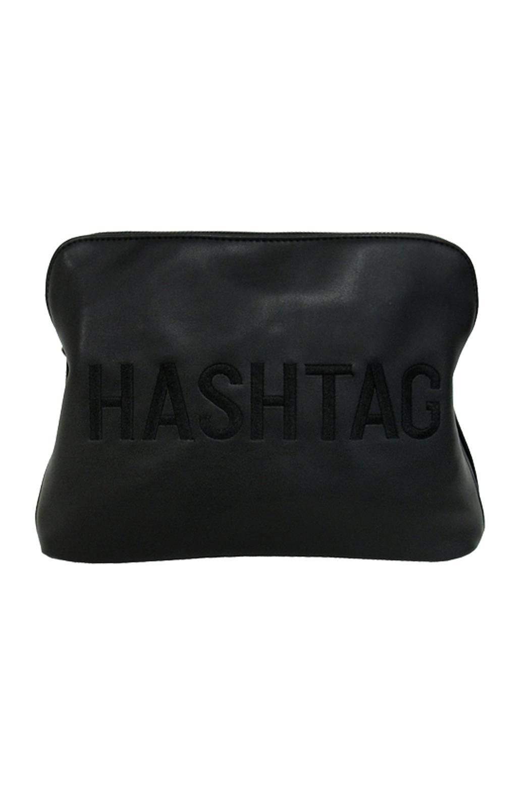 Wild Lilies Jewelry  Hashtag Faux Leather Bag - Front Cropped Image