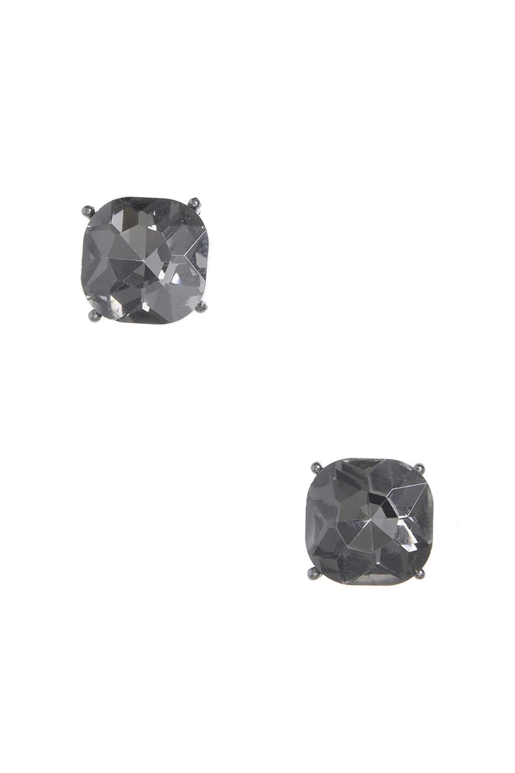 Wild Lilies Jewelry  Hematite Stud Earrings - Front Cropped Image