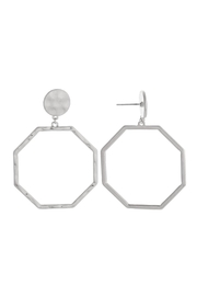 Wild Lilies Jewelry  Hexagon Hoop Earrings - Product Mini Image