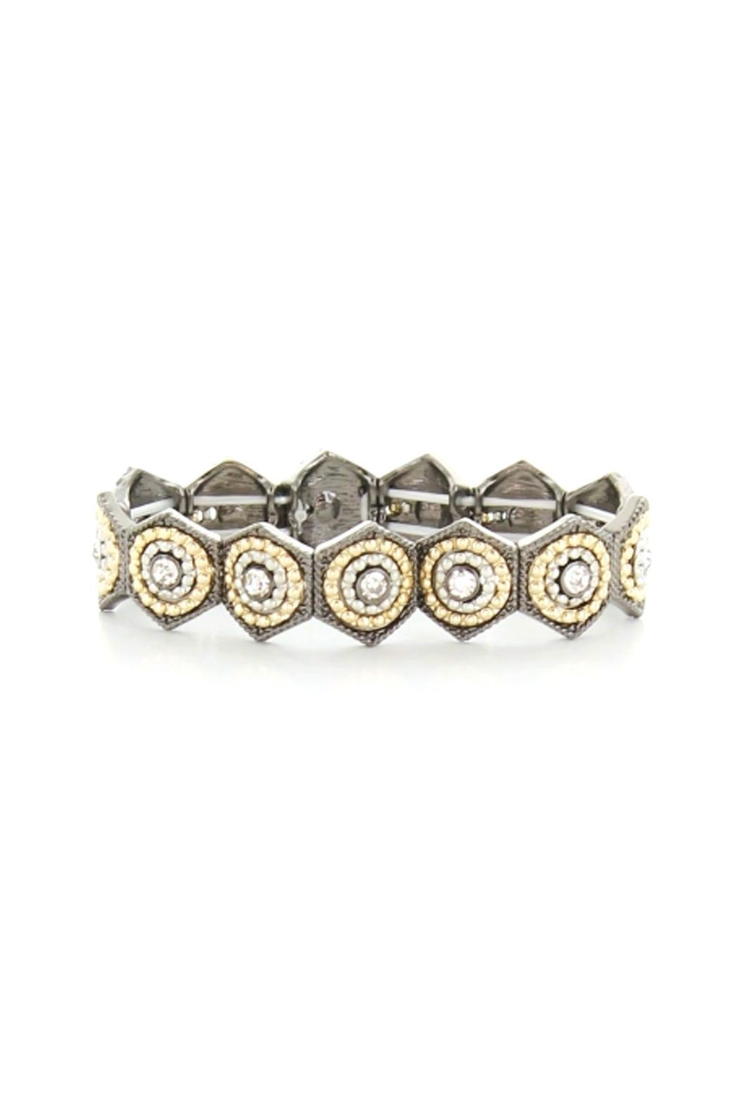 Wild Lilies Jewelry  Hexagon Stretch Bracelet - Front Cropped Image