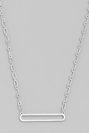 Wild Lilies Jewelry  Hollow Bar Necklace - Product Mini Image