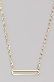 Wild Lilies Jewelry  Hollow Bar Necklace - Front full body
