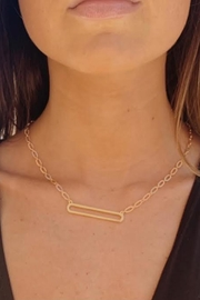 Wild Lilies Jewelry  Hollow Bar Necklace - Front cropped