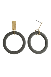 Wild Lilies Jewelry  Hoop Statement Earrings - Front cropped