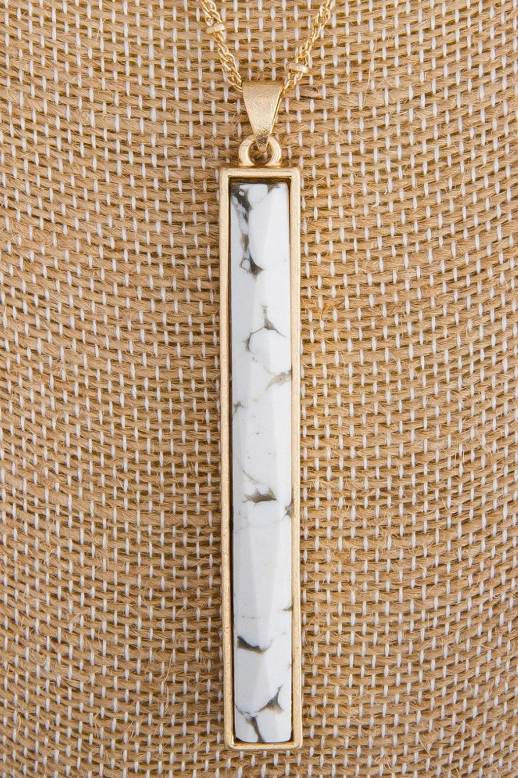 Wild Lilies Jewelry  Howlite Bar Necklace - Front Full Image