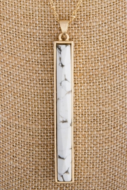 Wild Lilies Jewelry  Howlite Bar Necklace - Front full body