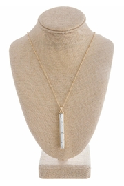 Wild Lilies Jewelry  Howlite Bar Necklace - Product Mini Image