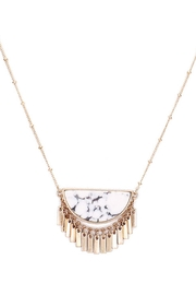 Wild Lilies Jewelry  Howlite Fringe Necklace - Product Mini Image