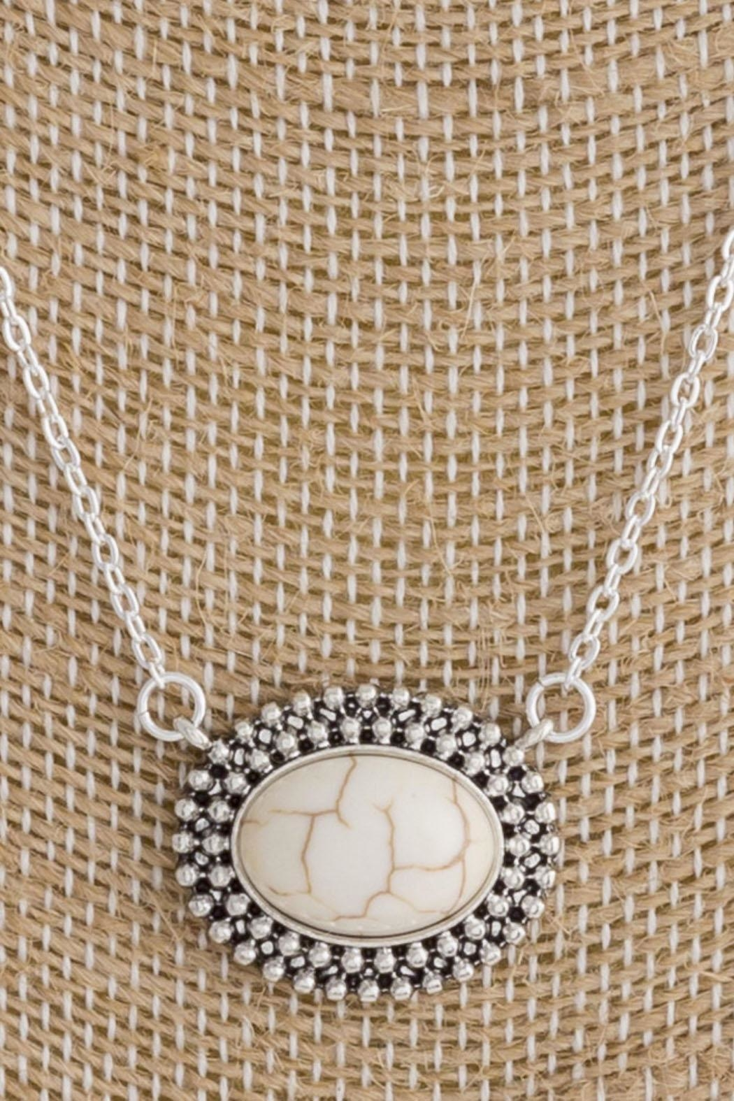 Wild Lilies Jewelry  Howlite Pendant Necklace - Front Full Image