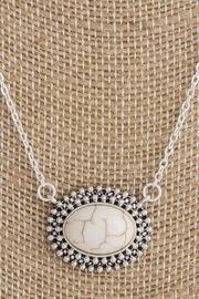 Wild Lilies Jewelry  Howlite Pendant Necklace - Front full body
