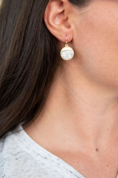 Shoptiques Product: Howlite Round Earrings