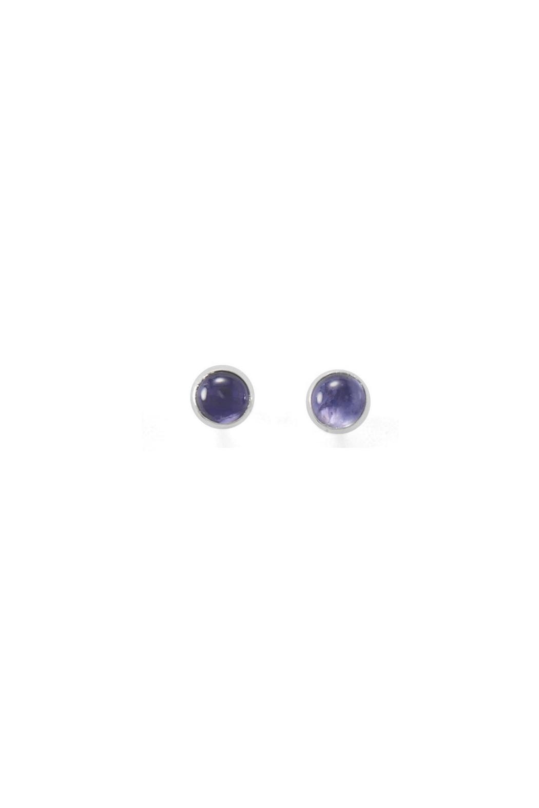 Wild Lilies Jewelry  Iolite Stud Earrings - Front Cropped Image