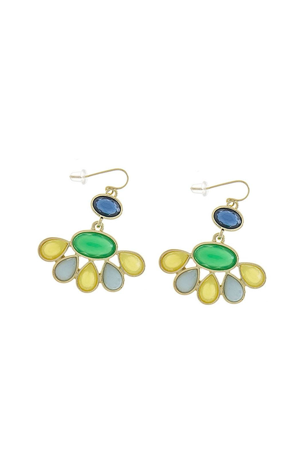 Wild Lilies Jewelry  Jewel Statement Earrings - Front Cropped Image